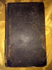 """Cover of the rare book """"The Glory and The Shame of England,"""" which once belonged to the mother-in-law of Vermont-born President Chester A. Arthur."""