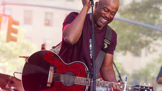 "Darius Rucker, shown performing on NBC's ""Today"" show on Aug. 28, 2015, will be one of six acts performing at WLHK-FM's Hankfest at Indiana Farmers Coliseum on Nov. 1, 2015."