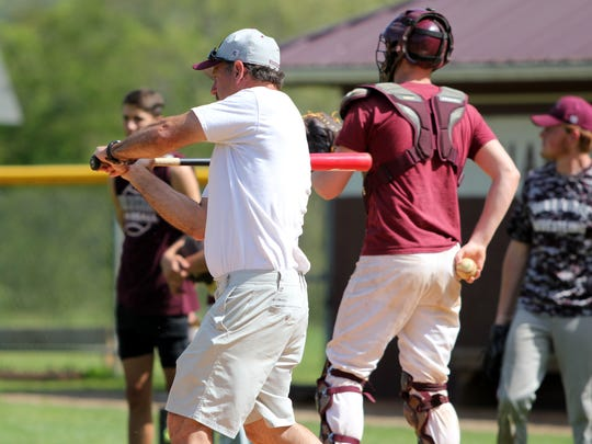 """Owen baseball head coach Anthony Lee works on """"situational"""""""