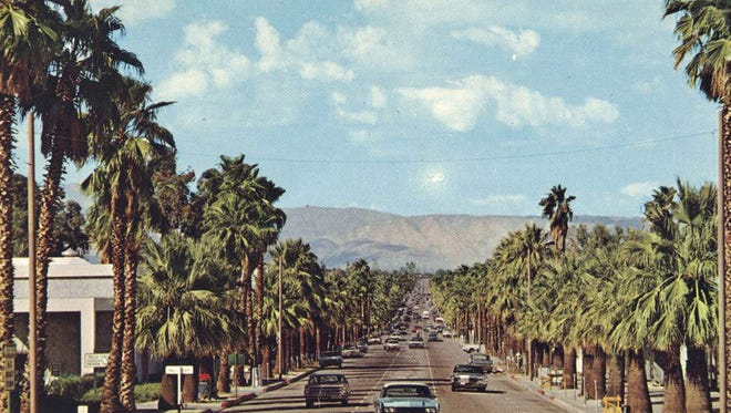 Looking north from S. Palm Canyon Drive c. 1960.