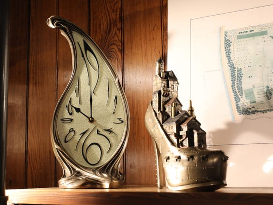Whimsical gifts on display at the gift shop in the