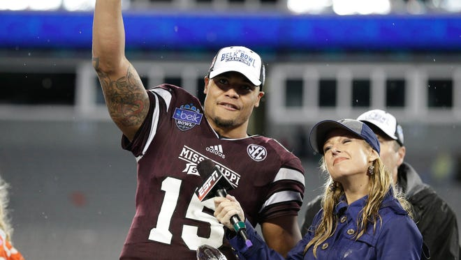 Mississippi State is still searching for a quarterback to replace Dak Prescott.