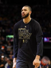 f70723807 Golden State Warriors center JaVale McGee is not happy