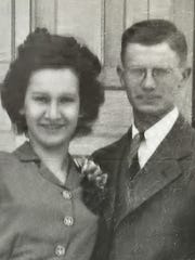 James and Esther Russell, 1945.