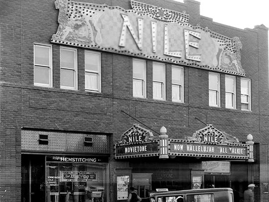 The Nile Theater seen in a 1929 photograph was Mesa's