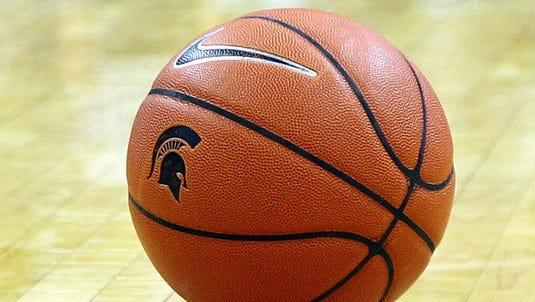 A Michigan State basketball.