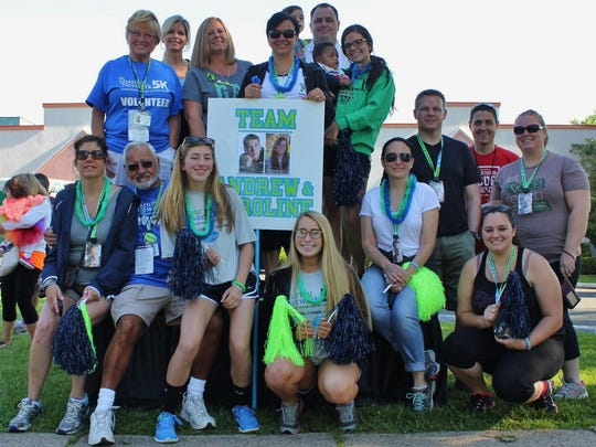Members of the Duerr family participate in NJ Sharing Network's Celebration of Life 5K walk and run June 7