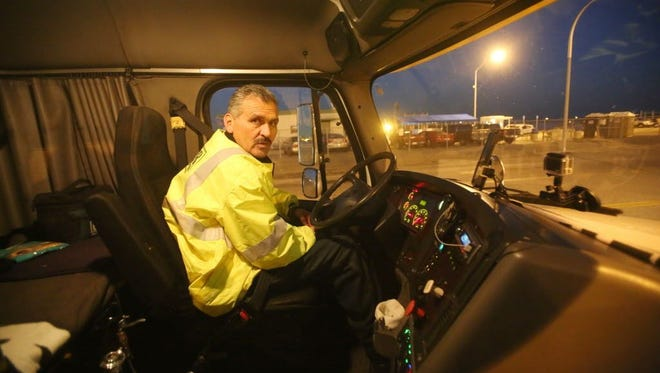 Reyes Castellanos, a port trucker featured in USA TODAY Network's investigation.