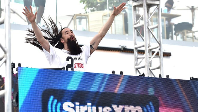 Steve Aoki performs at the Rave's Eagles Ballroom Feb. 21.