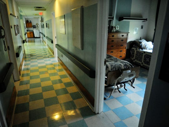 In this 2010 file photo, a resident's room and outer