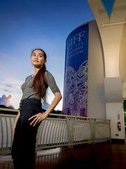 Ruzelle Almonds, festival director of the Guam International Film Festival poses for a portrait at Guam Museum on Oct. 4, 2017, in Hagåtña.