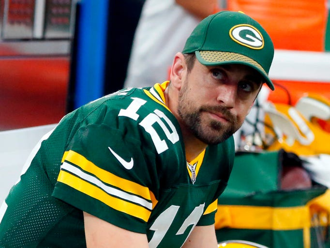 Aaron Rodgers, quarterback for the Green Bay Packers.