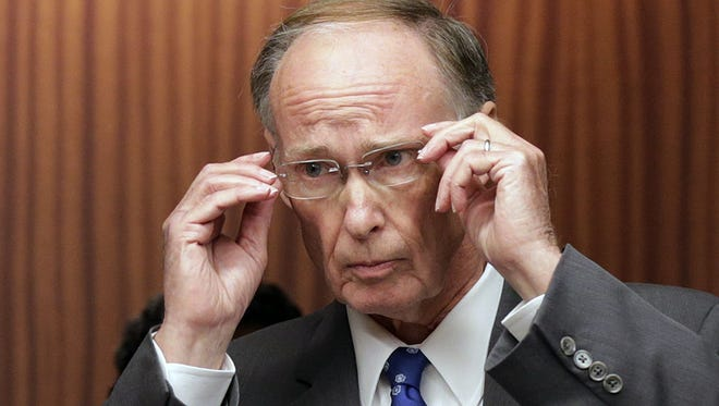 Gov. Robert Bentley He says the state's jobless rate hasn't been at 5.7 percent or below since July 2008.