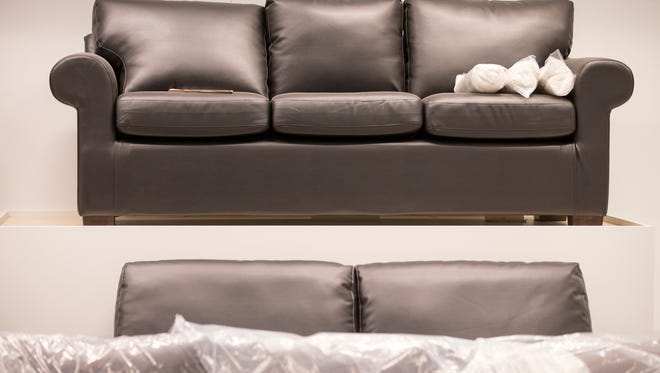 Couches in the under-installation Ikea, in Fishers, which is slated to have its grand opening on Oct. 11, Fishers, Tuesday, Aug. 29, 2017.