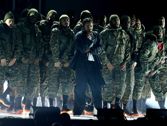 Kendrick Lamar performs at the 60th annual Grammy Awards