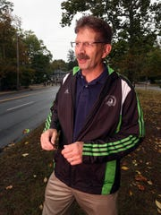 Rivertown Runners President Todd Ruppel  near the site