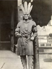 This wooden Indian stood in front of Youngman's Cigar