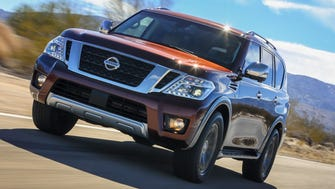 Nissan's Armada is a big, traditional SUV that seats eight