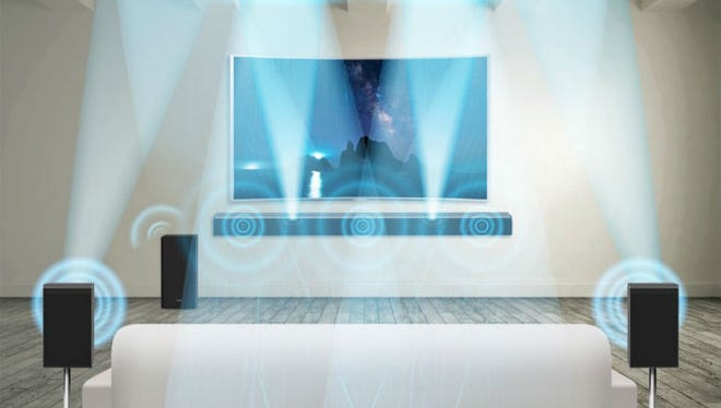 At home, Dolby Atmos utilizes upward-firing speakers to bounce audio off the ceiling, filling the room with sound.