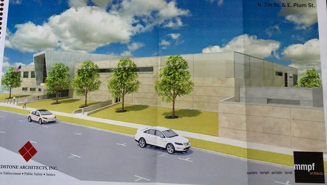 Architecture designs for the planned new Vineland Police Department.