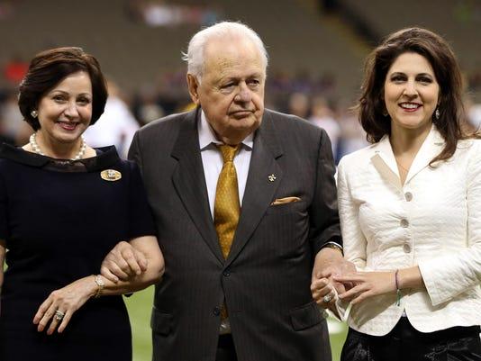 Gayle Benson, Tom Benson and Rita Benson LeBlanc