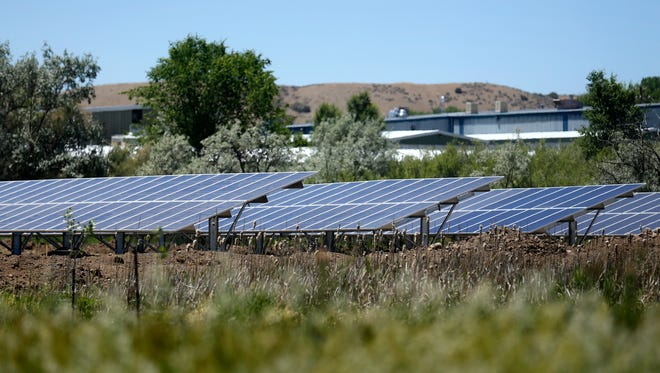 The solar array in west Aztec is pictured in 2017.