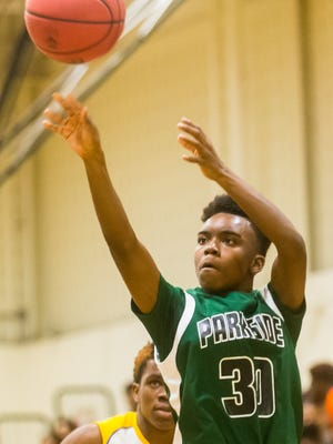 Parkside guard Paul Morgan (30) shoots a 3-pointer against Wicomico on Tuesday, Jan. 5 in the WallerDome at Wicomico High.