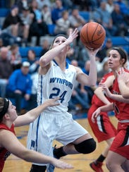 Wynford senior Sarah Ogden attempts a shot Tuesday