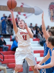 Shaina Orewiler leads the area in blocks and is second in the N10.
