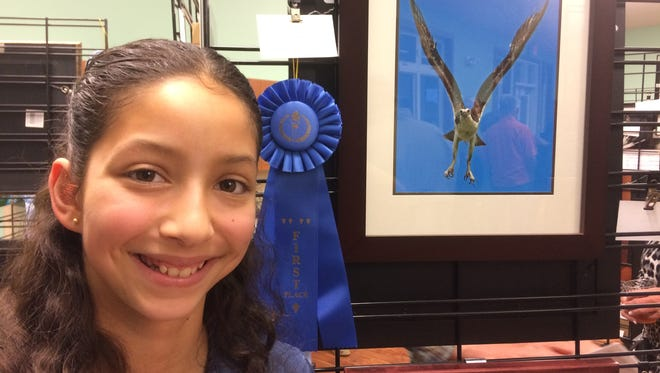"""Madison Adkins, first place in Youth category for """"Osprey"""""""