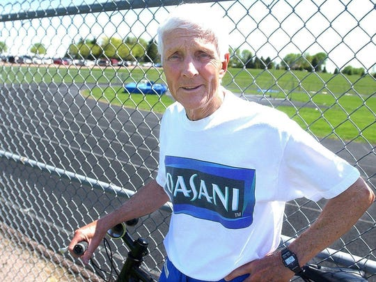 Argus Leader File photoA member of the National High School Sports Hall of Fame, Rich Greeno took over a fledgling program at Lincoln and guided the Patriots to 11 state boys cross country titles and eight track crowns before retiring, only to enjoy a second wave of success at the University of Sioux Falls. Greeno coached USF from 1991-2004 and continued to play a role on the local track scene in recent years, serving on the Howard Wood Dakota Relays Board and volunteering to work with runners. Rich Greeno, who forged a track and cross country dynasty at Lincoln High School, died Monday at the age of 88.