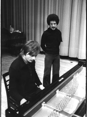 ECM Records founder Manfred Eicher with jazz great Keith Jarrett in the 1970s.