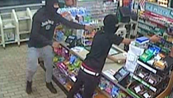 Police said Monday they've arrested three suspects in connection with this July 26 holdup at a 7-Eleven store in Edgewater Park.