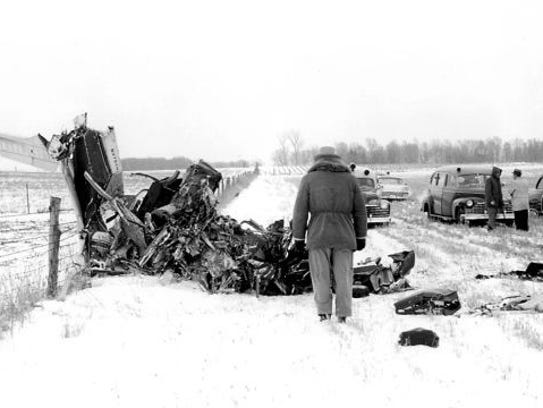Elwin Musser's photo of the Buddy Holly plane crash
