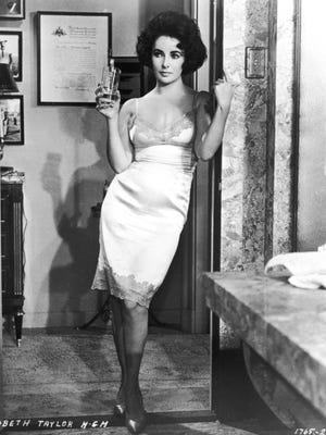 Elizabeth Taylor in a slip in 'Butterfield 8' from 1961.