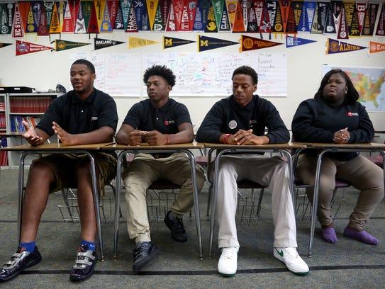 Jordan Davis and schoolmates from Michigan Collegiate
