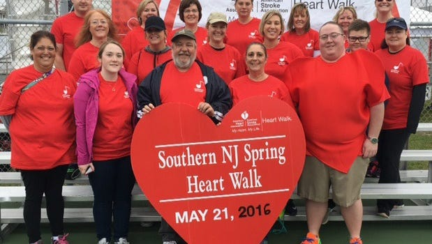 The Cumberland Insurance Group's Heart Walk team was recently presented the Top New Team award by the Southern New Jersey American Heart Association.