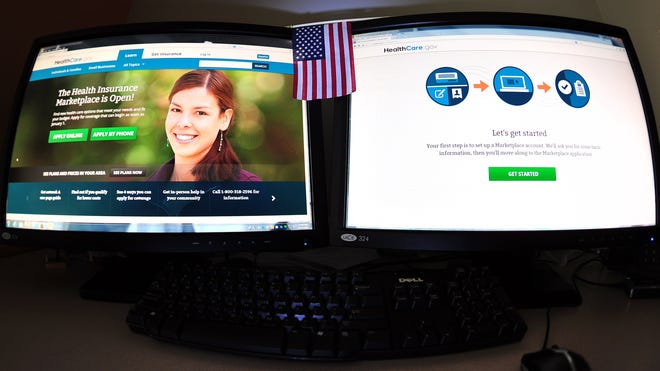 Government Internet health insurance exchange Healthcare.gov.