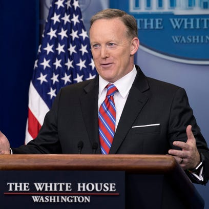 Sean Spicer tells reporter April Ryan: 'Stop shaking your head'