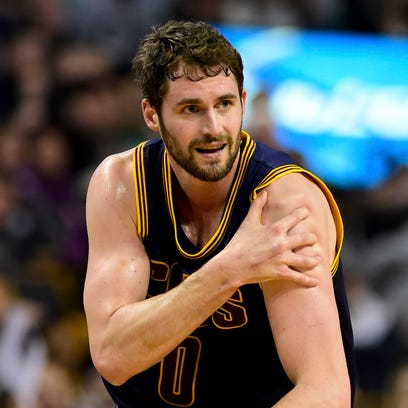 After having his left shoulder dislocated, Cavs forward