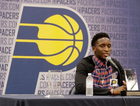 Indiana Pacers' Victor Oladipo said at a news conference