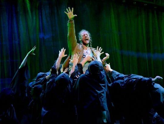 "Brett Travis in the title role of ""Jesus Christ Superstar"""