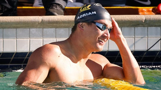 Nathan Adrian swims Tuesday in the 100-meter freestyle