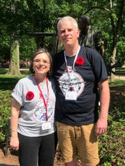 Assemblywoman Donna Lupardo and Broome County Executive Jason Garnar were in attendance on the Twin Tiers Honor Flight on May 12.