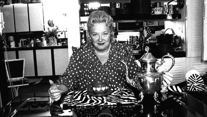 In this January 1992 file photo, Dorothy Horn sits in her dining room in front of her kitchen, her place for creating food and cookbooks.