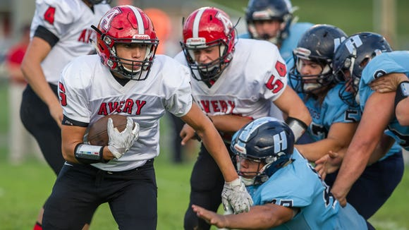 Steven Sanchez, Avery County's leading rusher with
