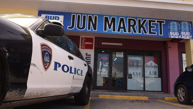 Police responded to Jun Market on Thursday, Feb. 8, 2018.