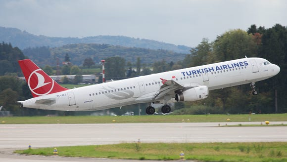 This file photo from October 2017 shows a Turkish Airlines