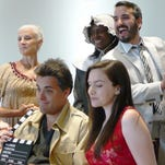 """The cast of """"Indiana -- The Musical"""" includes, clockwise from bottom left, Lee Meyers, Connie Rich, Leona Woody, Joey Box, Anna Barge and Kyle A. Martin."""