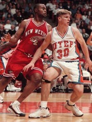 Brandon Wolfram during the first half of a Saturday, Jan. 24, 1998 game at the Don Haskins Center in El Paso. (AP Photo/JR Hernandez)
